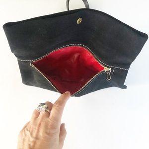 Dooney & Bourke Bags - Dooney & Bourke Black Suede Shoulder Clutch